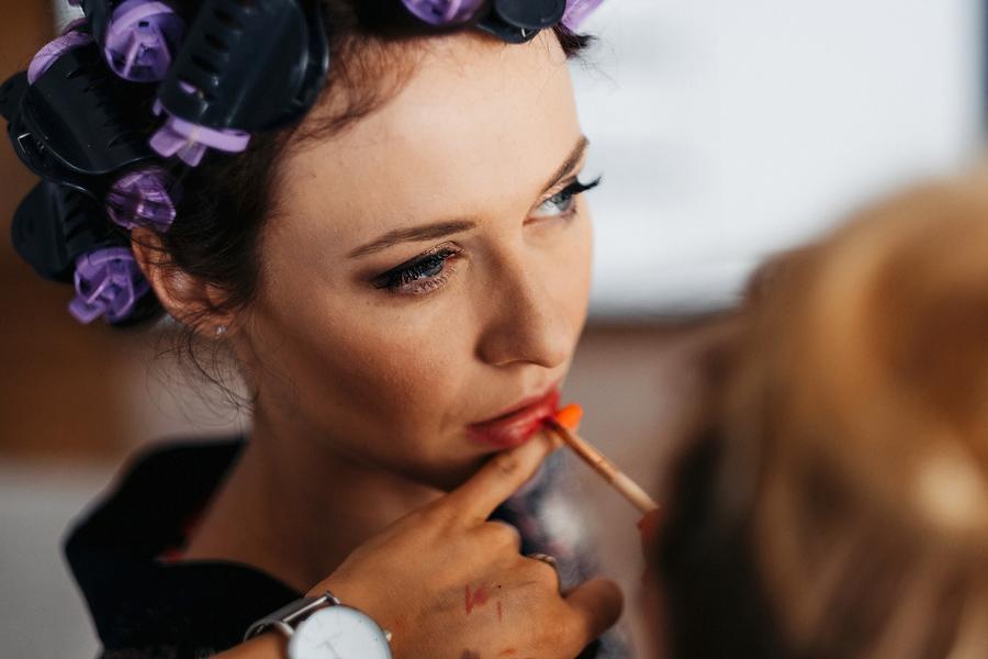 przygotowania make-up slub