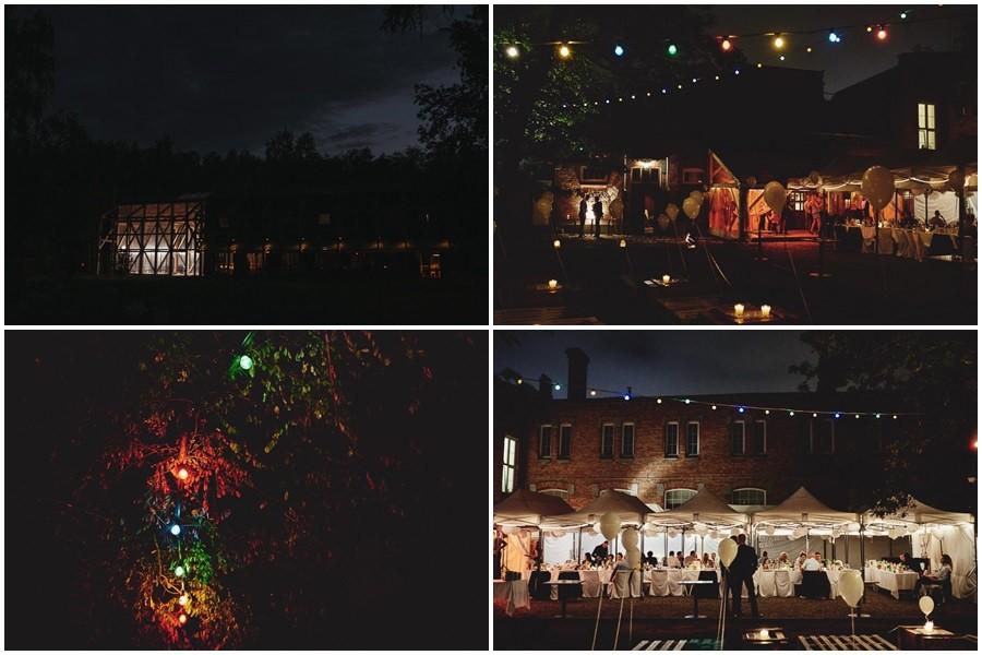 oświetlenie miejsca wesela
