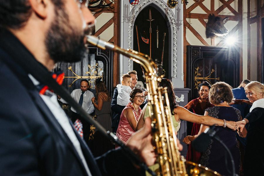 zabawa wesele saksofon