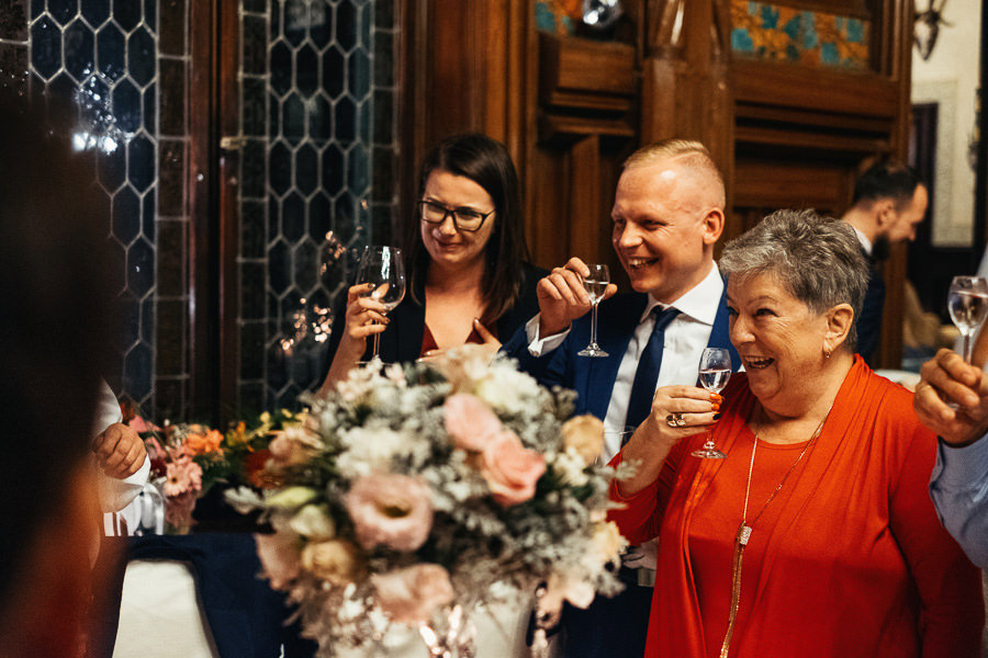 przyjecie wesele toast