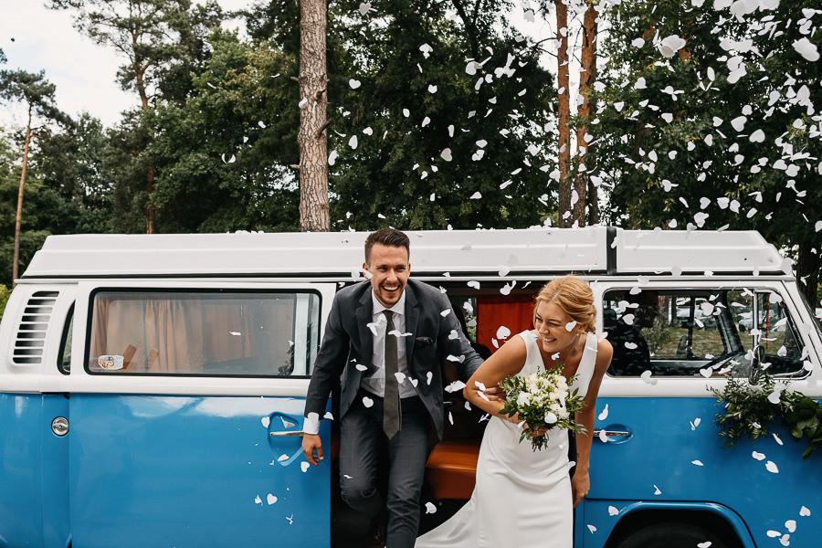 alternatywne wesele turkusowy domek w warszawie